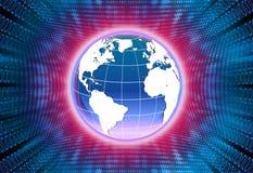 World globe illustration stock photography