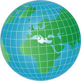 World globe illustration Royalty Free Stock Image