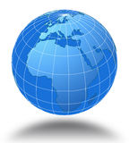 World globe. An illustration of World globe on white background Stock Photography