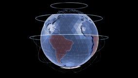 World Globe - Infographic Presentation stock video