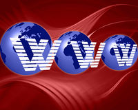 World globe internet background Stock Photo