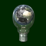 World globe in light bulb Royalty Free Stock Images