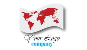World globe logo Royalty Free Stock Photography