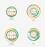 World globe logo stamp Stock Photos