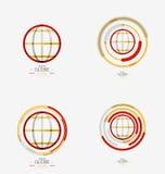 World globe logo stamp Stock Photos