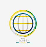 World globe logo stamp Royalty Free Stock Image