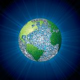 Social Media Icons Globe Stock Images