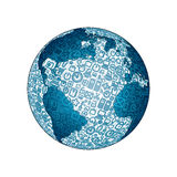 World Globe made from Social Media Icons Royalty Free Stock Images