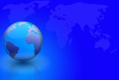 World Globe And Map Stock Photo