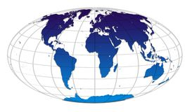 World globe map. Vector blue world map. World map concept Royalty Free Stock Images