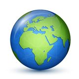 World Globe Map - Africa & Europe Royalty Free Stock Images