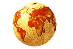 World globe map coconut Royalty Free Stock Photography