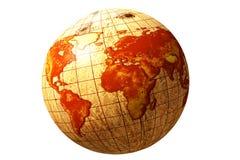 World globe map on coconut vector illustration