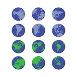 World globe map Royalty Free Stock Photo
