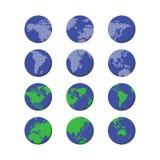 World globe map Stock Image