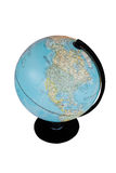 World globe map on white isolated background Foto de archivo libre de regalías