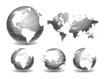 World Globe Maps vector illustration