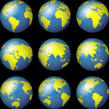 World Globe Maps Royalty Free Stock Photos