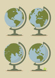 World Globe Maps Stock Photos