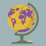 World Globe Maps network Royalty Free Stock Photography