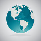 World Globe Maps - Vector Design Stock Image