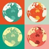 World globe maps. Vector illustration. Business background. Royalty Free Stock Image