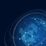 World globe with network global connections concept Royalty Free Stock Photography