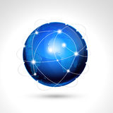World globe, network icon. Stock Photography