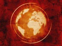 World Globe Over Vintage Background Royalty Free Stock Images