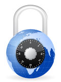 World globe padlock Royalty Free Stock Image