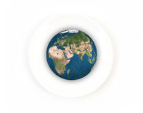 World globe on plate, Elements of this image furnished by NASA Stock Photography