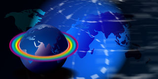 World globe rainbow Royalty Free Stock Images