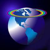 World globe rainbow Royalty Free Stock Image