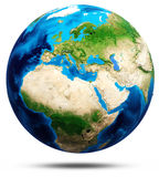 World globe real relief, modified maps Royalty Free Stock Photo