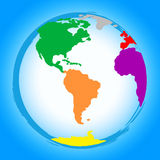 World Globe Represents Colors Earth And Colour Royalty Free Stock Photo