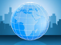 World Globe Represents Globally Globalise And Global Stock Images