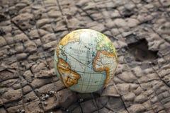 World Globe Stone Background royalty free stock images