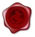 World Globe Sealing Wax Stock Images