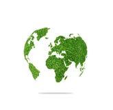 World globe shape of green grass. Stock Photo