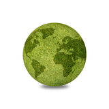 World globe shape of green grass. Royalty Free Stock Images