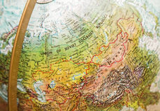 World globe soviet union map vintage Stock Images
