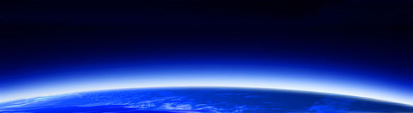 World globe & space banner 1 Royalty Free Stock Photos
