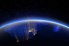 World globe from space. Elements of this image furnished by NASA Stock Images