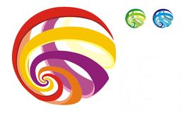World globe spiral  icons Royalty Free Stock Images