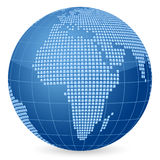 World globe squares Royalty Free Stock Images