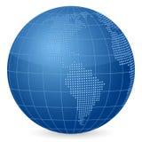World globe stars vector illustration