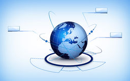 World globe technology Stock Photo