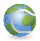 World globe tennis ball concept. Illustration Royalty Free Stock Images