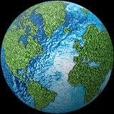 World globe with texture Stock Photography