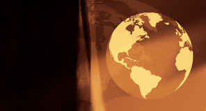 World globe travel concept background. World globe on abstract background Stock Images